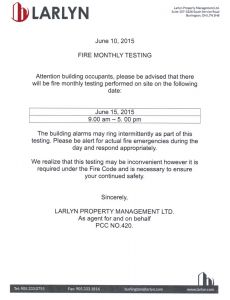 2015-06-11 - Monthly Fire Testing