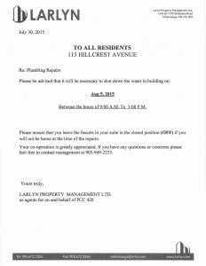 2015-07-30 - Plumbing Repairs