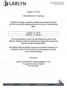 2015-08-10 - Monthly Fire Testing