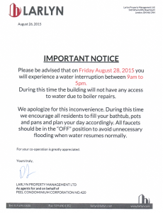 2015-08-26 - Water Shut Down