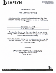 2015-09-11 - Monthly Fire Testing